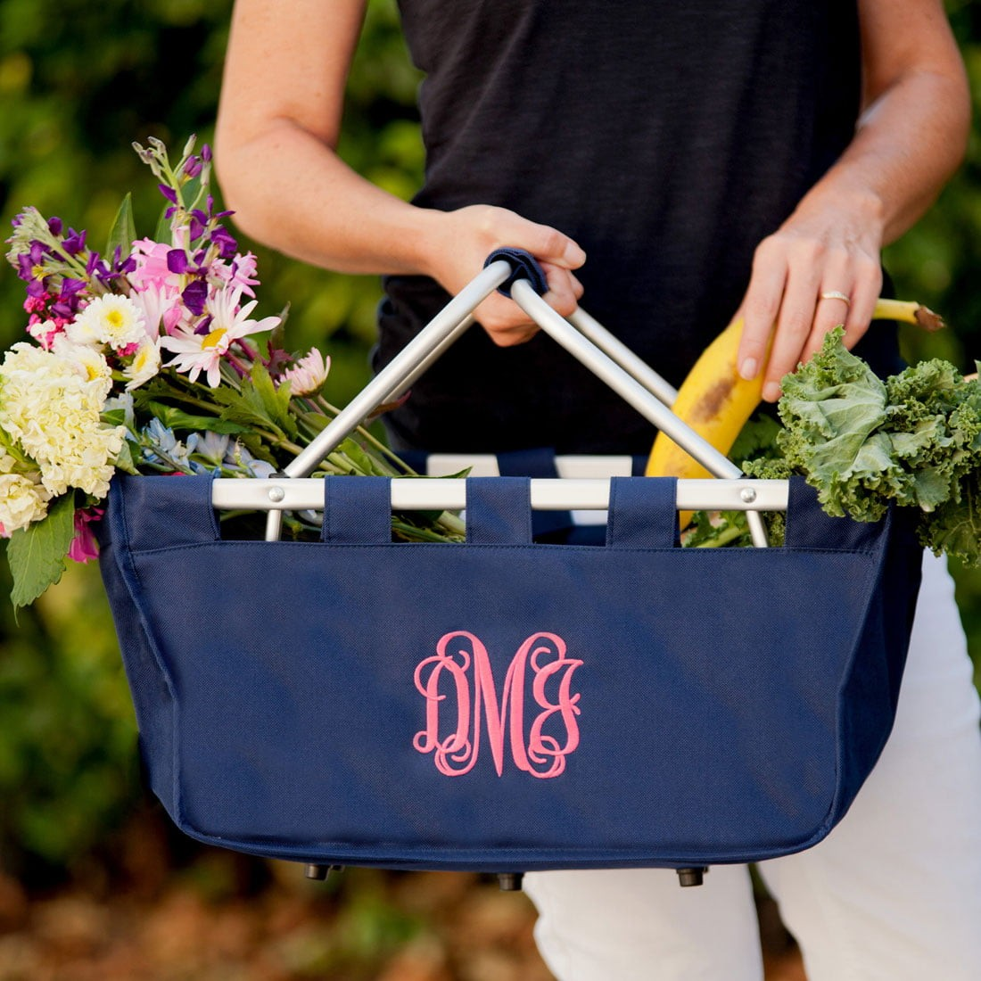 Wholesale Blank Navy Market Tote