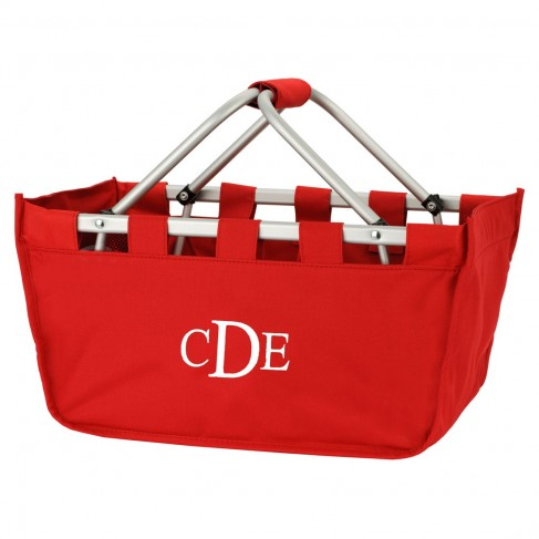 Wholesale Blank Red Market Tote
