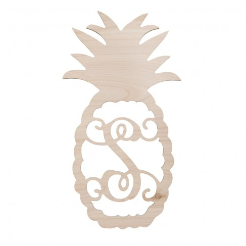 Pineapple Wood Monogram