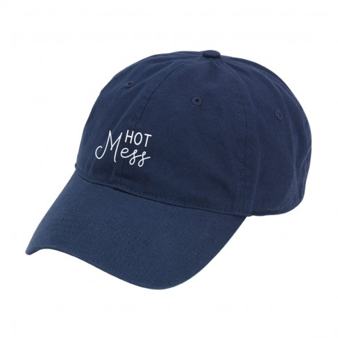 Navy Hot Mess Cap