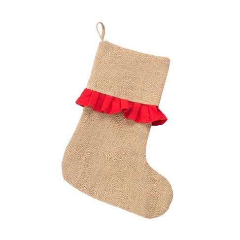 Red Ruffle Stocking