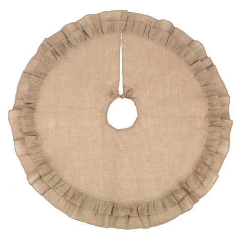 Burlap Ruffle Tree Skirt