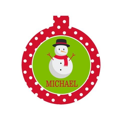 Kids' Snowman Ornament