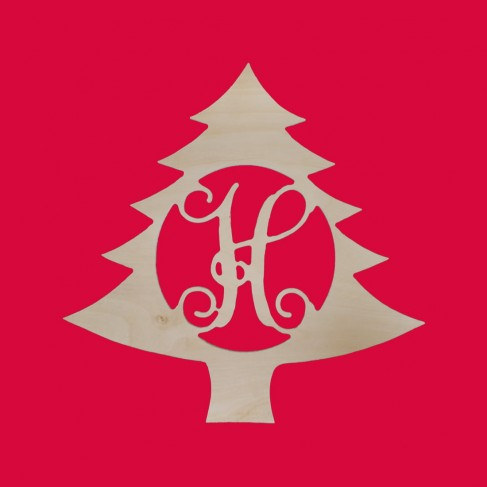 "18"" Christmas Tree Monogram"