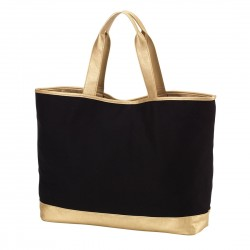 Black Cabana Large Tote