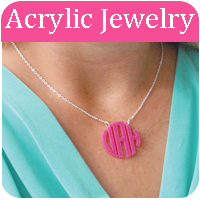 Acrylic Monogram Jewelry